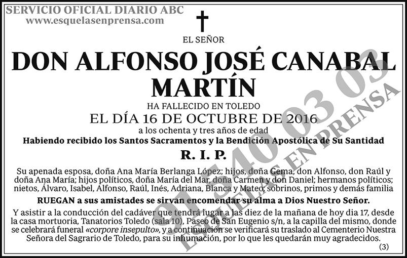 Alfonso José Canabal Martín